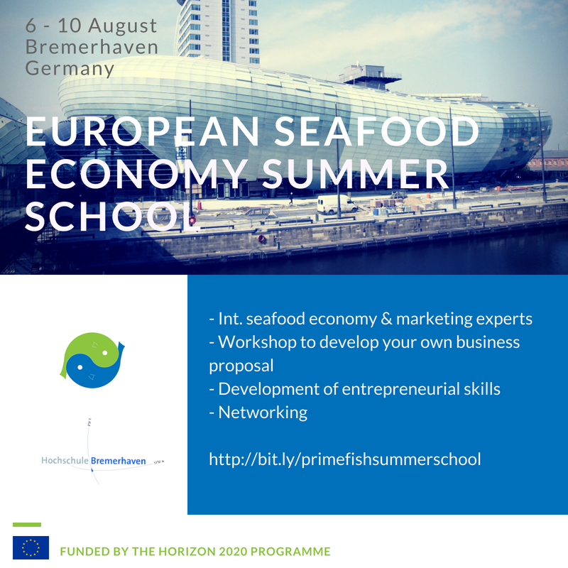 PrimeFish European Seafood Economy Summer School Bremerhaven from 6 to 10 August.